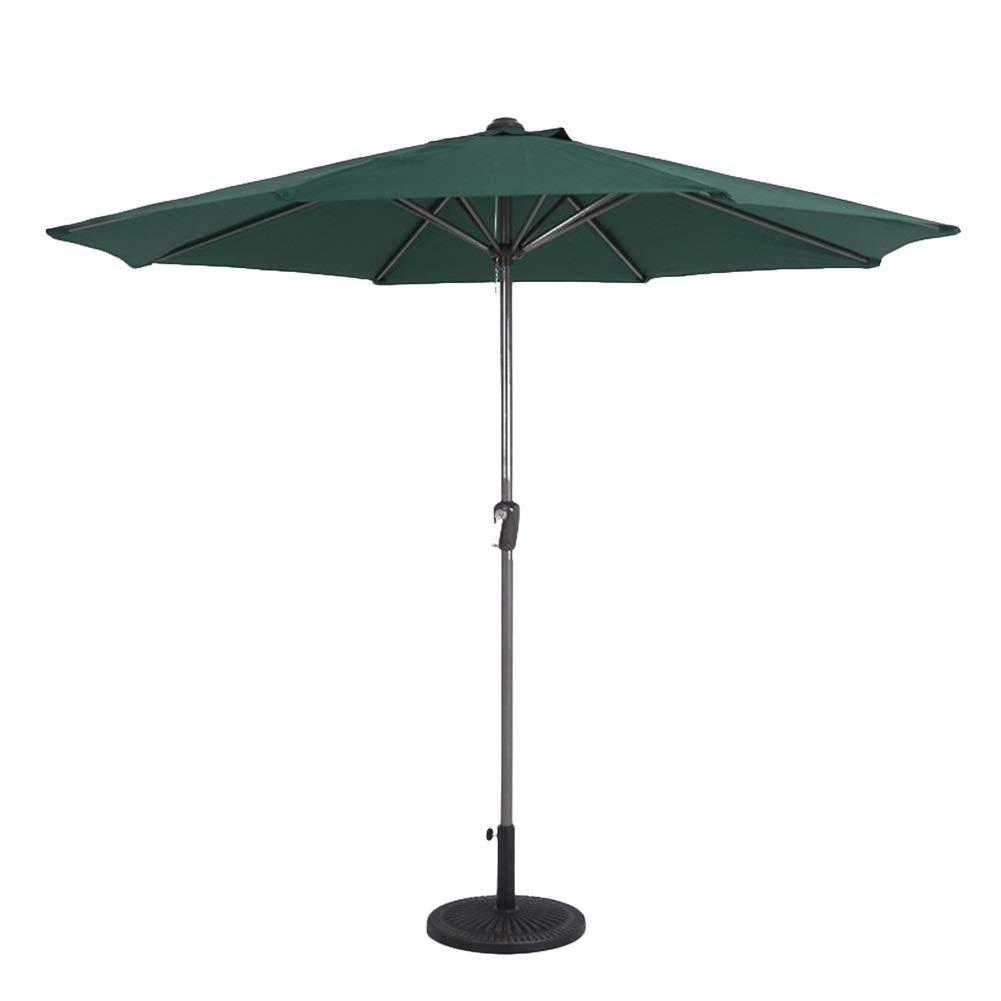 パラソル 庭のテラスパラソルパラソル傘、屋外庭のプールビーチパラソルラウンドサンスクリーン - ダークグリーン用防水2.7m UVサンシェード B07R4Y7WV9