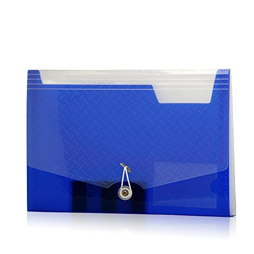 Lightahead LA-7558 Expanding file Folder with 6 pockets Available in Colors Blue, Pink, Green, Black - 6 Pockets File