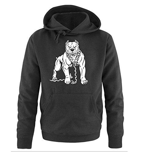 Cappuccio Comedy Shirts Hoodie Sweater Pitbull Nero Taglia Bianco S Uomo xxl qHq7IZ1Ww
