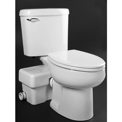 Macerating Toilet, Round, 1/2 HP, 115V by Liberty