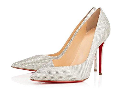Bouche Célibataires Talons Argent Femmes Chaussures à xie Superficielle Banquet Mode Chaussures Femmes Pointu Hauts aigu 1Zq4w0nv0