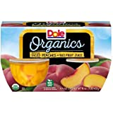 #10: Dole Fruit Bowls, Organics Freestone Diced Peaches in 100% Fruit Juice 4oz x 4(total 16oz), pack of 1