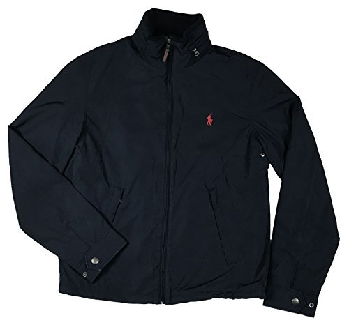 Polo Ralph Lauren Mens Perry Lined Winter Jacket (XXL, Navy Red Pony)