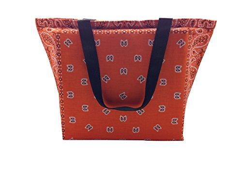 Coole Bandana Strand und Shopper Tasche Orange ZwNlNL