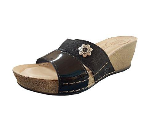 Fly Flot Women's Fashion Sandals Black Black 5PuZGSJ8r