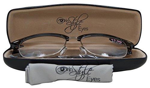 In Style Eyes Sellecks Bifocal Reading Glasses for Both Men & Women/Black 2.75