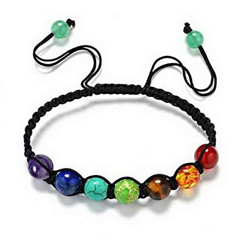 Mikash Boho Multilayer Natural Stone Bead Tassel Pendant Chain Bracelet Charm Women Set | Model BRCLT - 11602 |