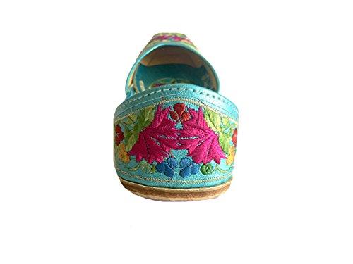 Schritt N Style Damen Leder Ballett flach Flip Flop Schuhe Mehrfarbig