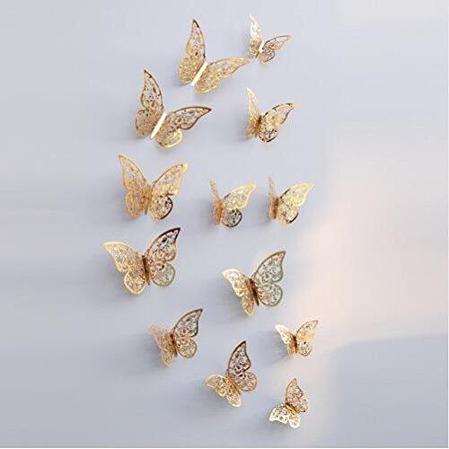 12PCS 3D PVC Magnet Butterflies DIY Wall Sticker Home Decoration - 7