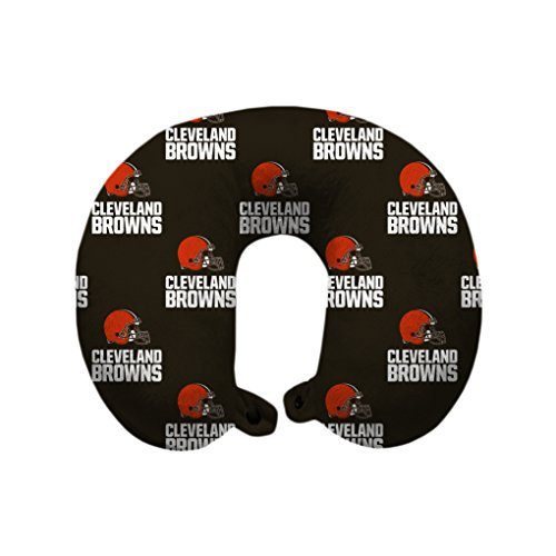 Cleveland Browns Pillow Case (NFL Cleveland Browns U-Neck Polyester Travel Pillow)