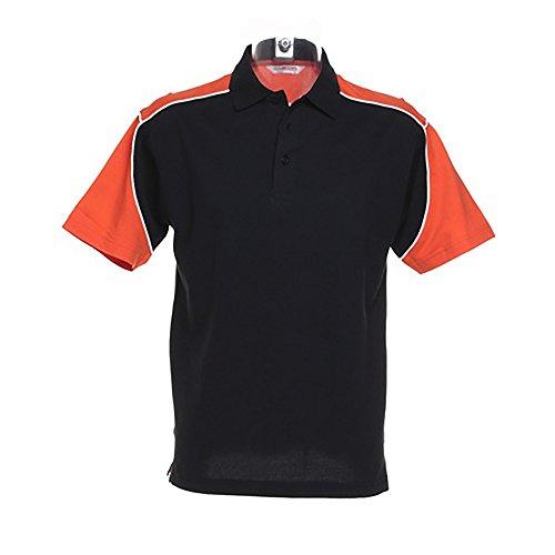 Formula Racing Monaco Mens Short Sleeve Polo Shirt (XL) (Black/Orange/White) (Polo Mens Racing)