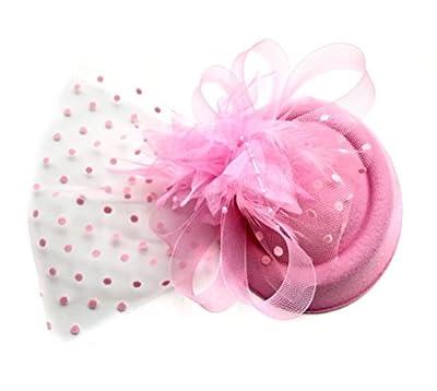 Women Fascinators Hair Clip Headband Hoop Veil Wool Flower Hat Derby Cocktail Party