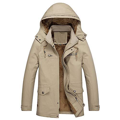 Winter Coats Men,Sunyastor Fashion Fur Collar Hoodied Warm Fleece Lined Down Jackets Zipper Pocket Windbreaker