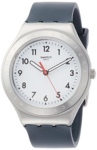on White Dial Unisex Rubber Watch YGS135 ()