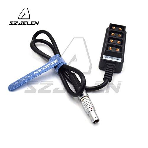 SZJELEN D-tap fourway Splitter,12V Male 0B 2pin to 4-Port d-tap Female Hub Adapter Splitter Power Cable for ARRI Alexa TILTA RED,60cm (FGG.0B 2pin to 4 d-tap)
