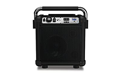 ION Audio Job Rocker Plus | Portable Heavy-Duty Jobsite Bluetooth Speaker System with AM/FM Radio + Mic Input (Black) from Ion Audio - MI