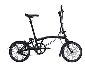 Brompton 2019 M6L Black Edition - Bicicleta Plegable