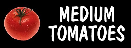 Retail Sign Systems 444-3T-Photo Real Medium Tomatoes Photo Real Design Insert, 3-Track ()