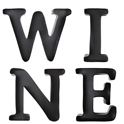 """Home-X """"WINE"""" Letters Metal Cork Holders. All 4 Letters W I N E, Sold as Set"""