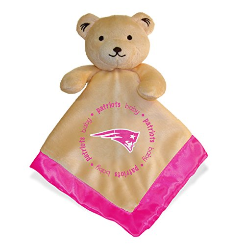 Blanket Soft New Patriots England (Baby Fanatic Pink Security Bear Blanket, New England Patriots)