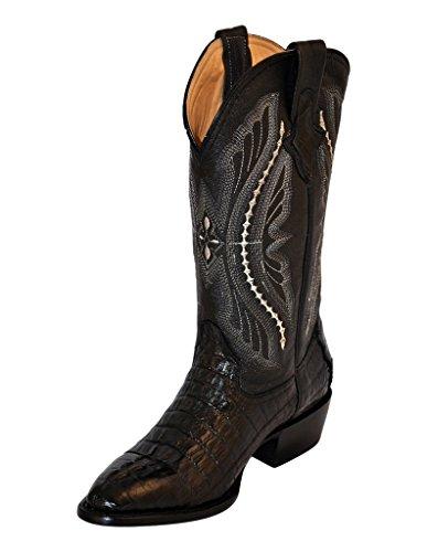 Ferrini Western Boots Mens Caiman Tail Croc 10.5 D Black 10311-04 (Caiman Croc)