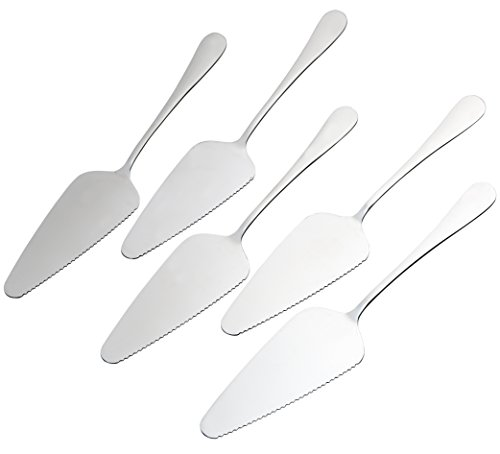 Pack of 5 Stainless Steel Pie Cake Server