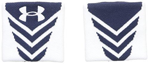 (Under Armour Men's Undeniable Wristband, Midnight Navy (410)/White, One Size)