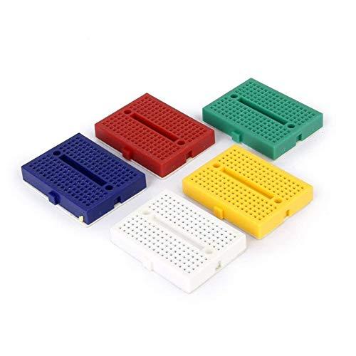 Leoboone SYB-170 Mini Color Solderless Prototype Breadboard Protoboard PCB Universal Circuit Test Board DIY Tools Reusable Bread Board