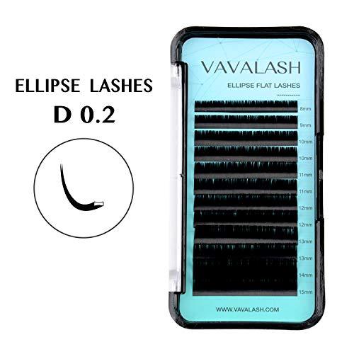 5cdc030de2d Ellipse Eyelash Extensions 0.20mm D Curl 8-15mm Mixed Flat Eyelash Extension  supplies Light