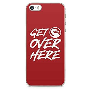 Loud Universe Mortal Combat iPhone SE Case Get Oer Here iPhone SE Cover with Transparent Edges