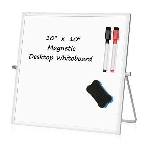 Image of Small Dry Erase White board – Desktop Portable mini WhiteBoard easel 10""