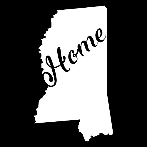 Mississippi Home State Vinyl Decal Sticker | Cars Trucks Vans Walls Windows Laptops Cups | White | 5.5 X 3.2 | KCD1942