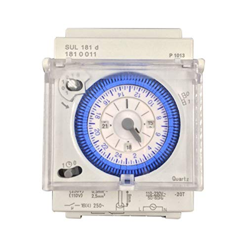 TOOGOO Analog Mechanical Timer Switch 110V-220V 24 hours Daily Programmable 15min Setting Time Switch Relay SUL181D Hot