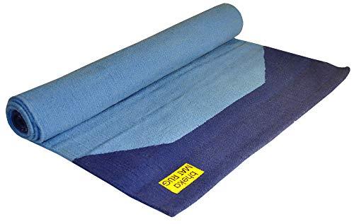 Bheka Cotton Yoga Mat Rug with Bracket Motif