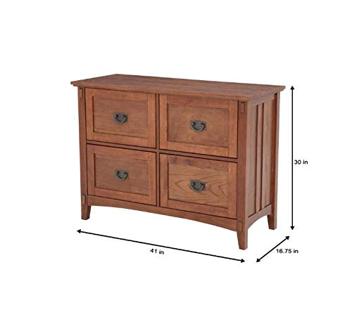 - Home Decorators Collection Artisan Medium Oak 4 Drawer File Cabinet