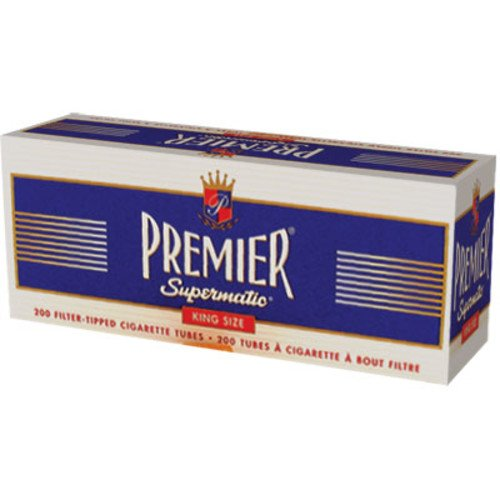 Premier Supermatic Cigarette Machine (PREMIER SUPERMATIC CIGARETTE TUBES KING SIZE(200) UNFLAVORED FLAVOR PACK OF)