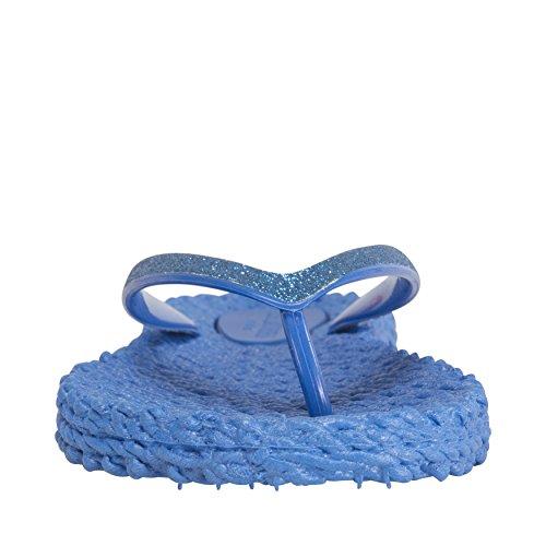Ilse Jacobsen Damen Glitzer Flip Flop, Cheerful01 Damen Zehentrenner Blau (Blau)