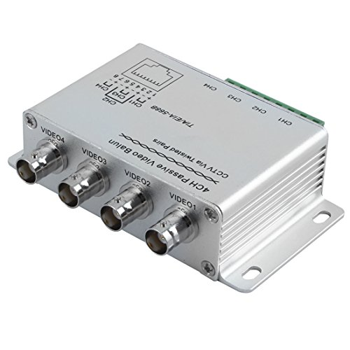uxcell UTP 4 Channel Passive Video Balun Transceiver ()