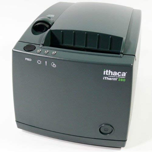 Ithaca Technologies Therm 280 Thermal Receipt Printer 203 dpi 8 ips 25-Pin Parallel Interface Dark gray 280-P25-DG (Certified Refurbished)