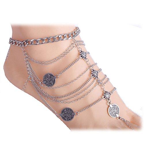 Zealmer Vintage Jewelry Barefoot Sandals