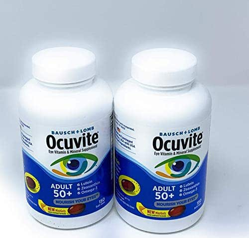 Bausch & Lomb Ocuvite Adult 50+ Eye Vitamin & Mineral 150 Count (Pack of 2)
