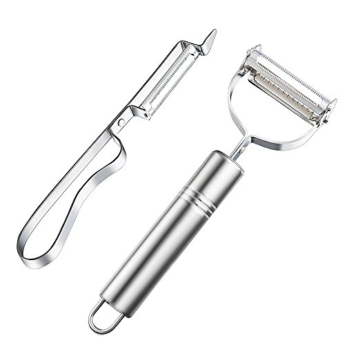 Namay Stainless Steel Peeler Sets for Potatoes, Apples and Other Tough-skinned Fruits