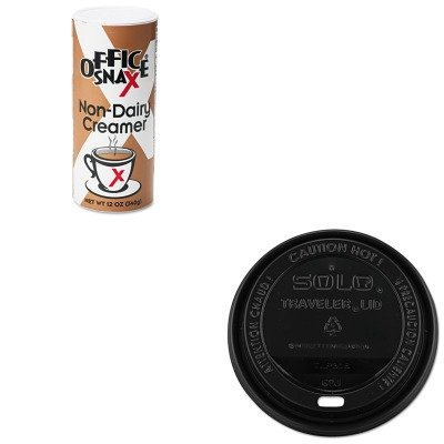 KITOFX00020CTSLOTLB316 - Value Kit - Solo Traveler Drink-Thru Lids (SLOTLB316) and Office Snax Reclosable Canister of Powder Non-Dairy Creamer (OFX00020CT) by Solo