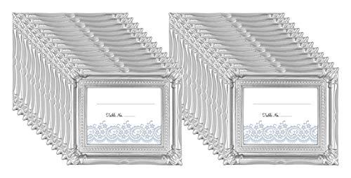 MCS Frames Wedding Photo Frame/Placecard Holder, 69041, 24-Pack, Silver