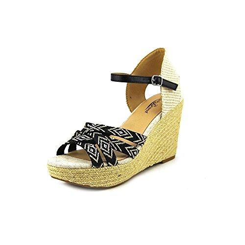UPC 886742327342, Lucky Brand Mahima Women US 7 Black Wedge Sandal