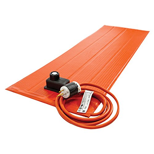 Image of Home and Kitchen BriskHeat SRL06122PADJB Silicone Heating Blanket with Controller, 50-425F, 6x12 Size, 240 Volt, 180 Watt