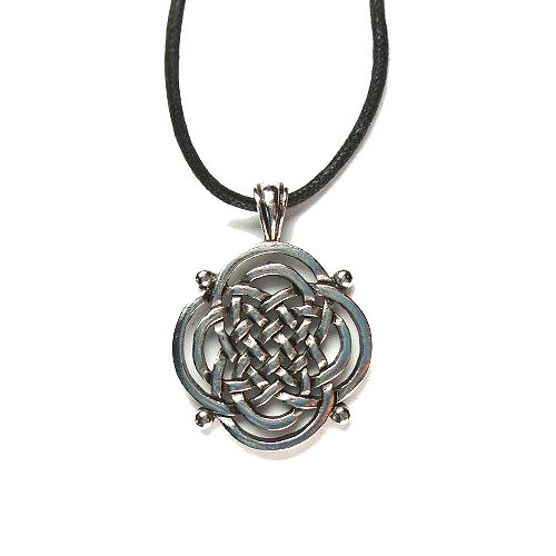 Celtic Spiritual Strength Pewter Pendant on Corded Necklace, Celtic Harmony Collection Pendant Corded Necklace