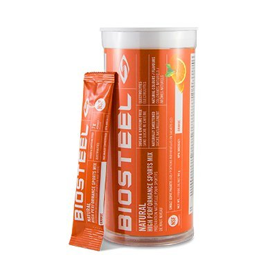 Biosteel High Performance Sports Mix - Enhanced With Electrolytes - Contains Amino Acids And Vitamin B Blend (12 Single Serving Packets) - Orange by BioSteel