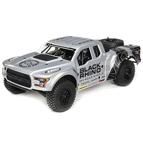 4wd Rtr Truck - Losi 1/10 Ford Raptor Baja Rey 4WD RC Desert Truck Brushless 2.4GHz RTR, Black Rhino, Black Rhino: Grey