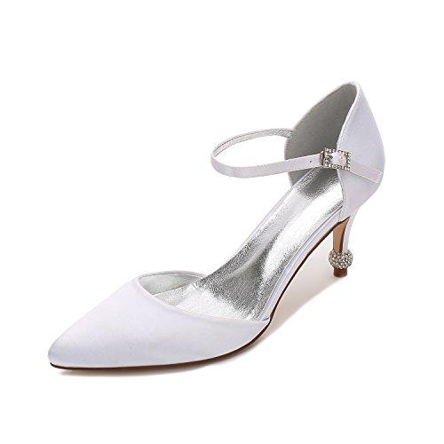 regalo Bianco numero di High Qingchunhuangtang scarpe High Alla moda per un gran della Heeled punta del Heel scarpe adulti scarpe luce scarpe partito matrimonio donne 1A4S1wq